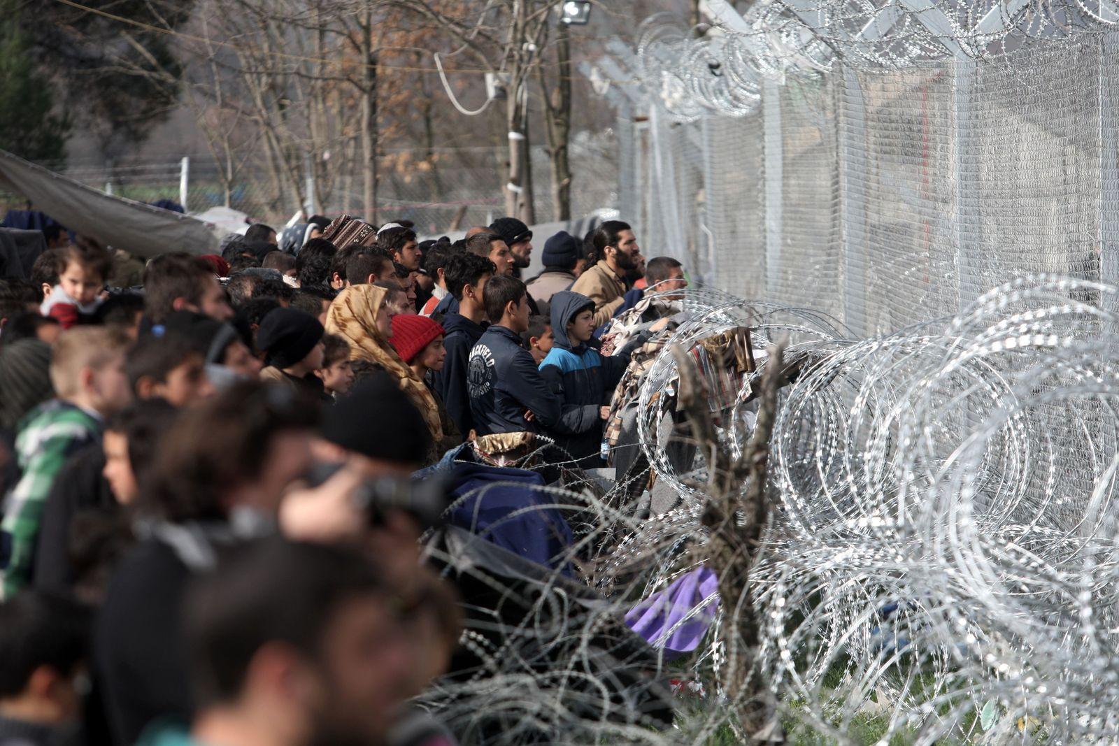 Idomeni Grenze Griechenland Mazedonien