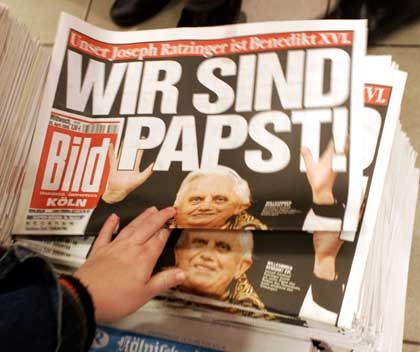 The Bild tabloid says: We are the Pope!