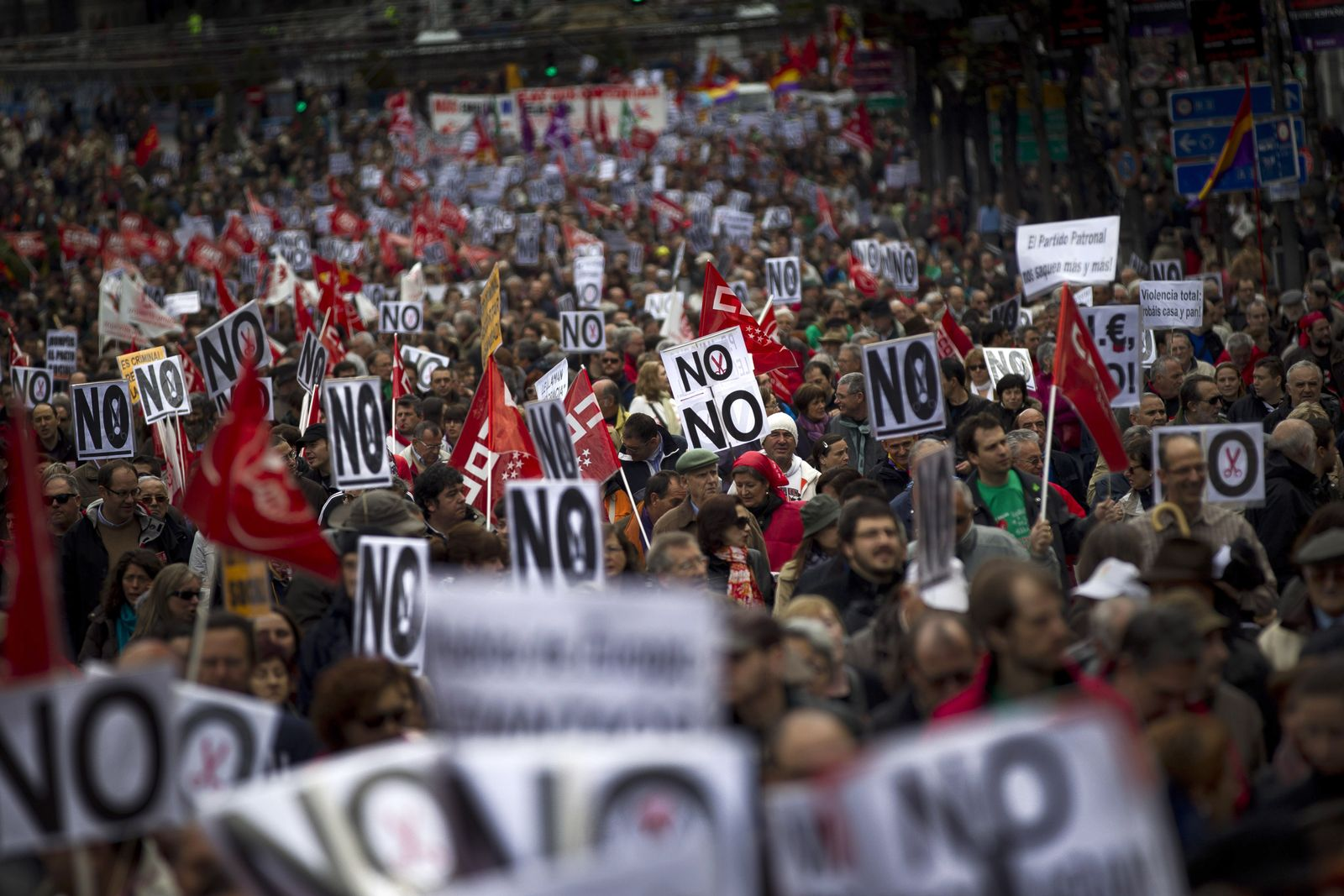 Spanien Demonstration