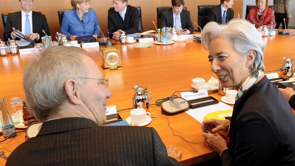 Kabinettssitzung zur Bankenabgabe: Französische Finanzministerin Lagarde zu Gast