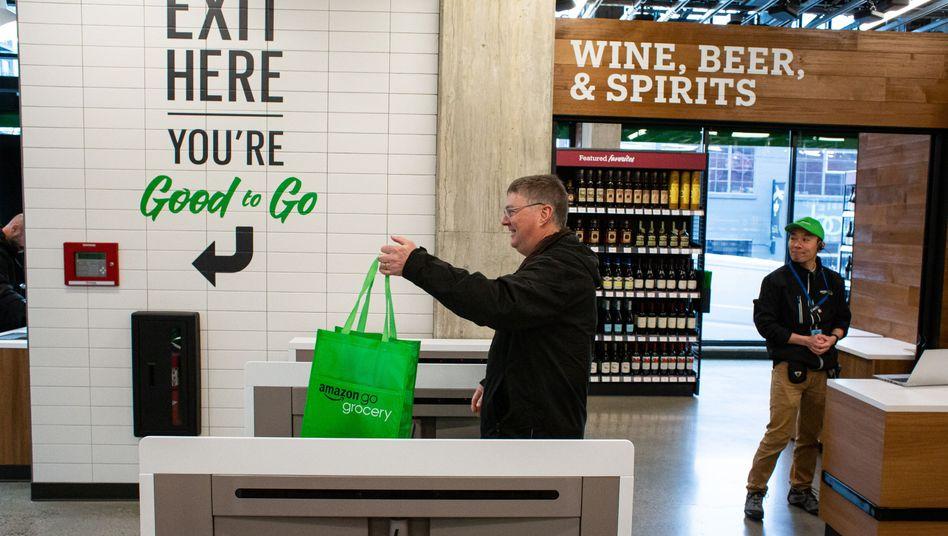 """Kein Kassenband, keine Schlange: Supermarkt """"Amazon Go"""" in Seattle"""