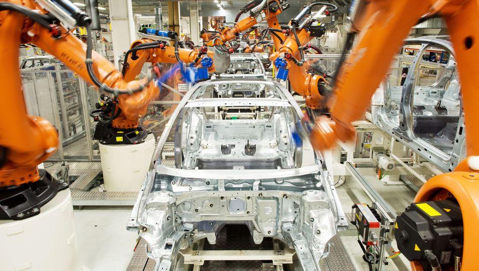 Roboter in den Werken von VW