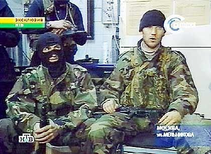 Das Bild der Geiselnehmer wurde zwar im russischen TV gesendet, doch der Ton fehlte aus Angst vor einem Polizeibesuch