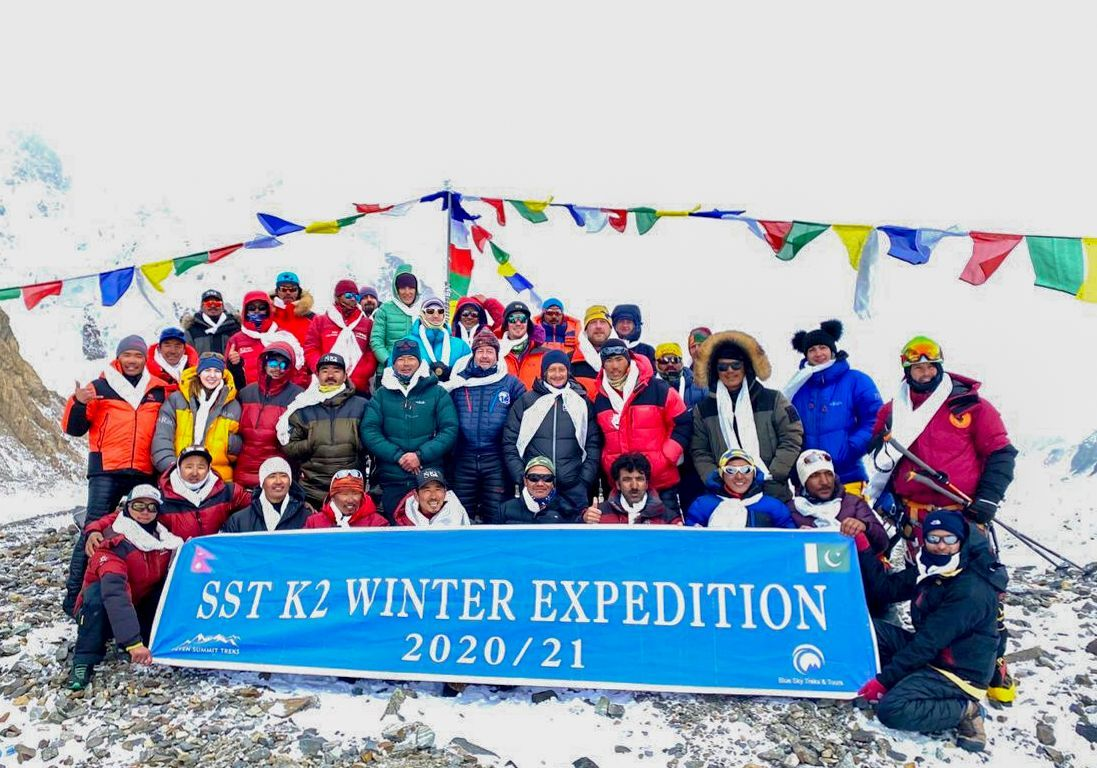 Nepalese team makes first successful winter ascent of K2, Zzz, Pakistan - 05 Jan 2021