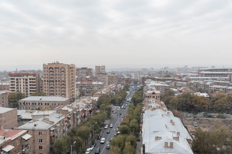 Blick vom Balkon des Start-ups Mutable in Eriwan