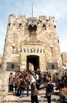 Die Zitadelle in Aleppo gilt als gröþte Burg in der arabischen Welt