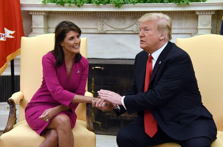 Haley und Trump im Oval Office