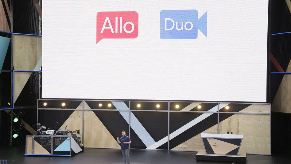 Präsentation der Allo-App auf der I/O-Entwicklerkonferenz
