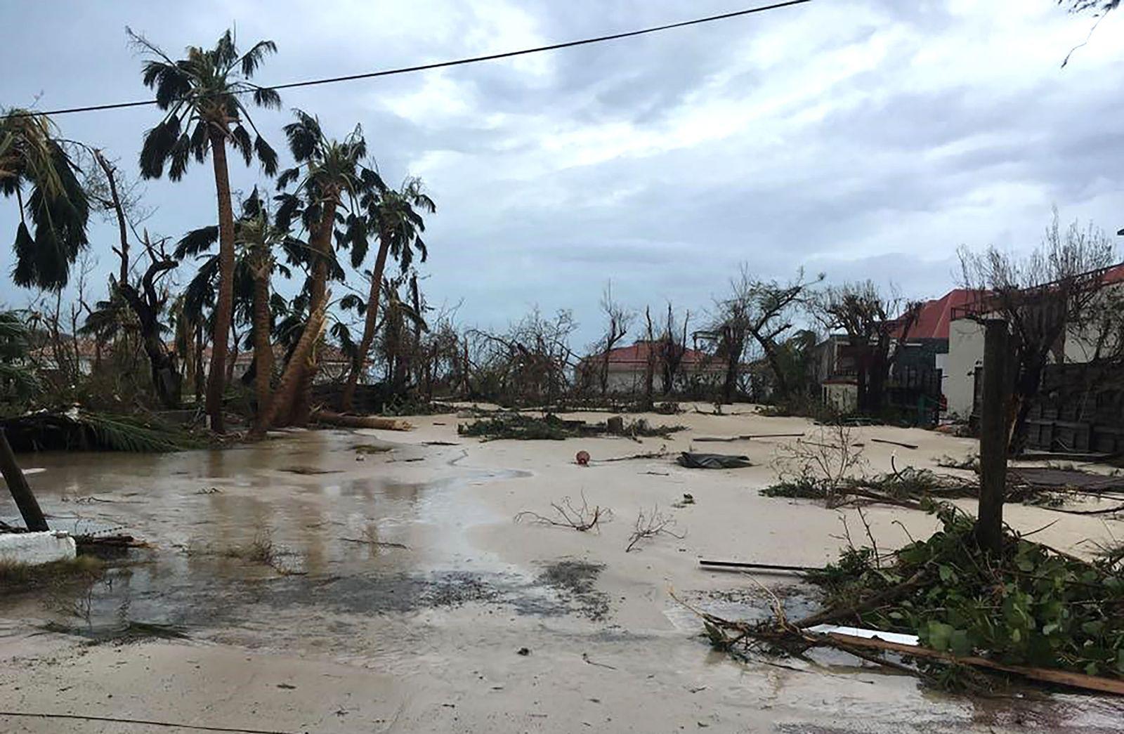 Hurrikan/ Irma/ Saint-Barthelemy