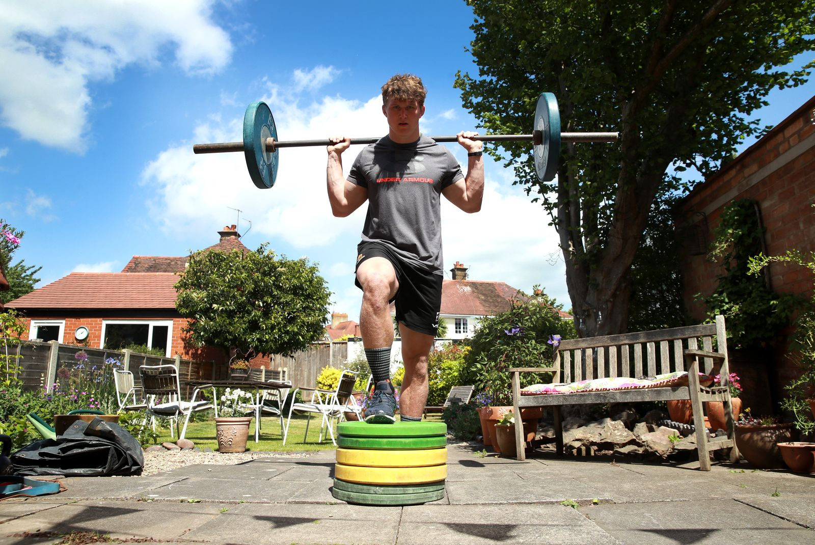 ***BESTPIX*** Worcester Warriors Rugby Player Ted Hill Training During The Coronavirus Pandemic