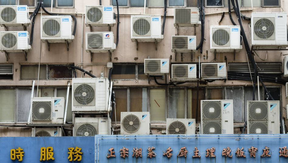 Klimaanlagen in Hongkong