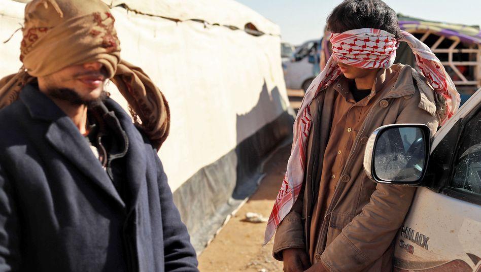 IS-Kämpfer nahe der irakischen Grenze