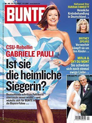 "Gabriele Pauli auf dem ""Bunte""-Titel"