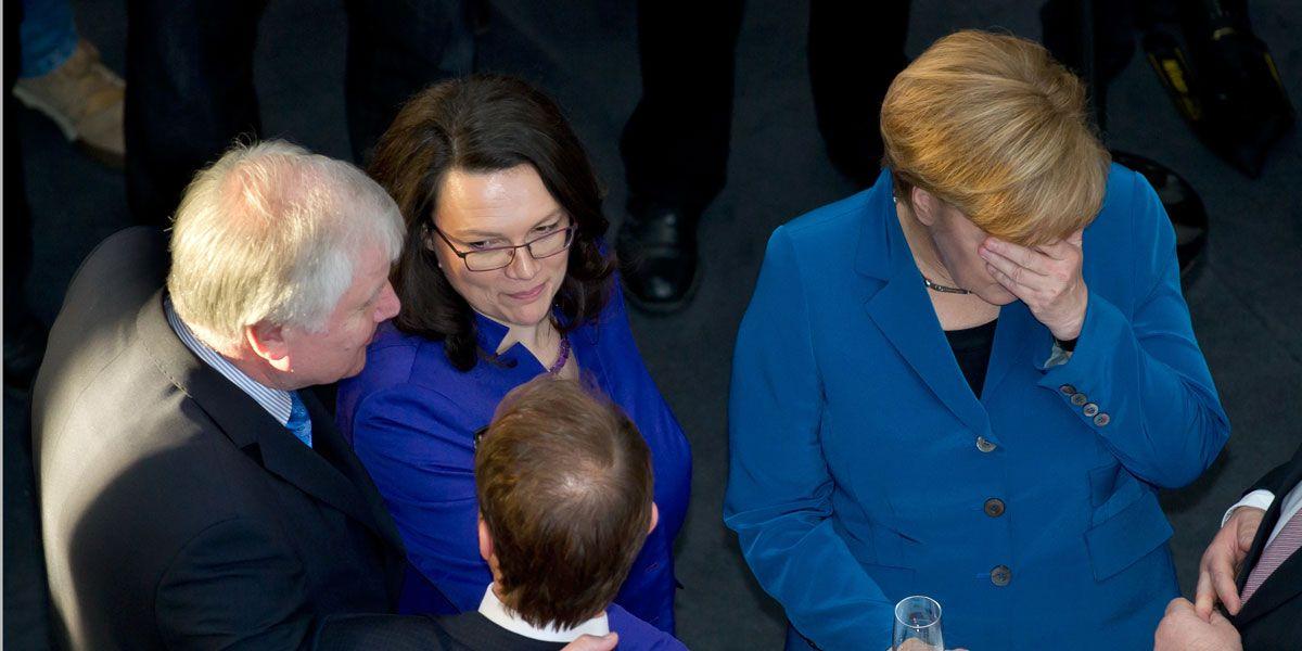 Nahles, Seehofer und Merkel