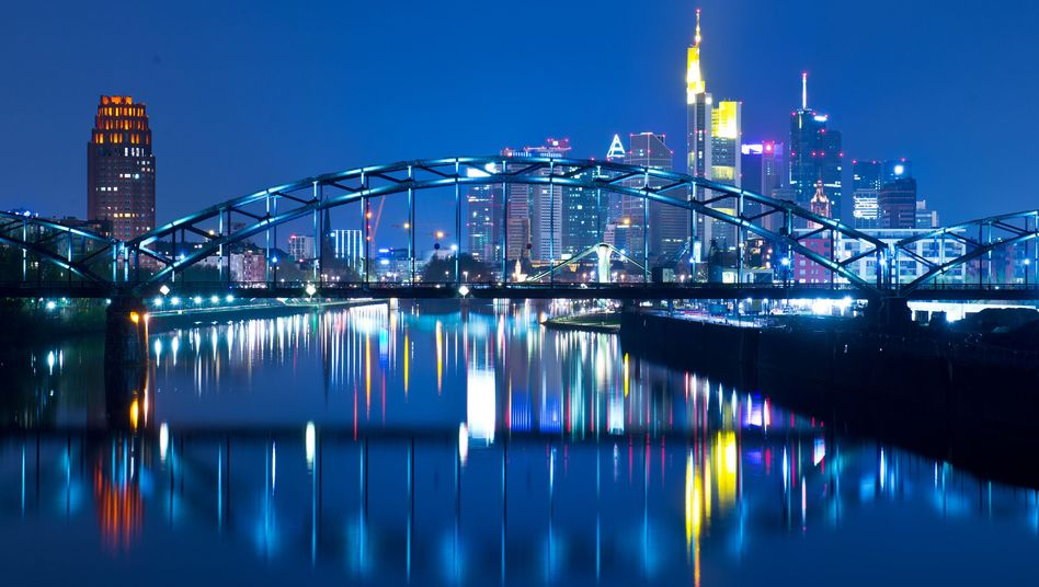"The skyline of Frankfurt with the new ECB building in the background: ""Exhausting the policy room for manoeuver."""
