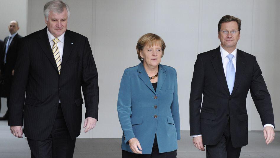"""Seehofer, Merkel und Westerwelle: """"Es wird sicherlich noch Rangeleien geben"""""""