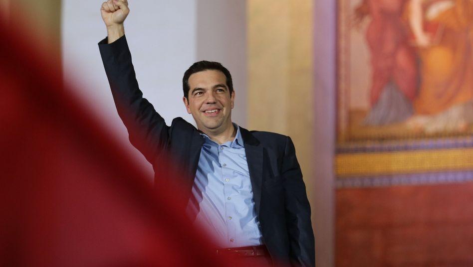 Alexis Tsipras, Wahlsieger und designierter Regierungschef von Griechenland