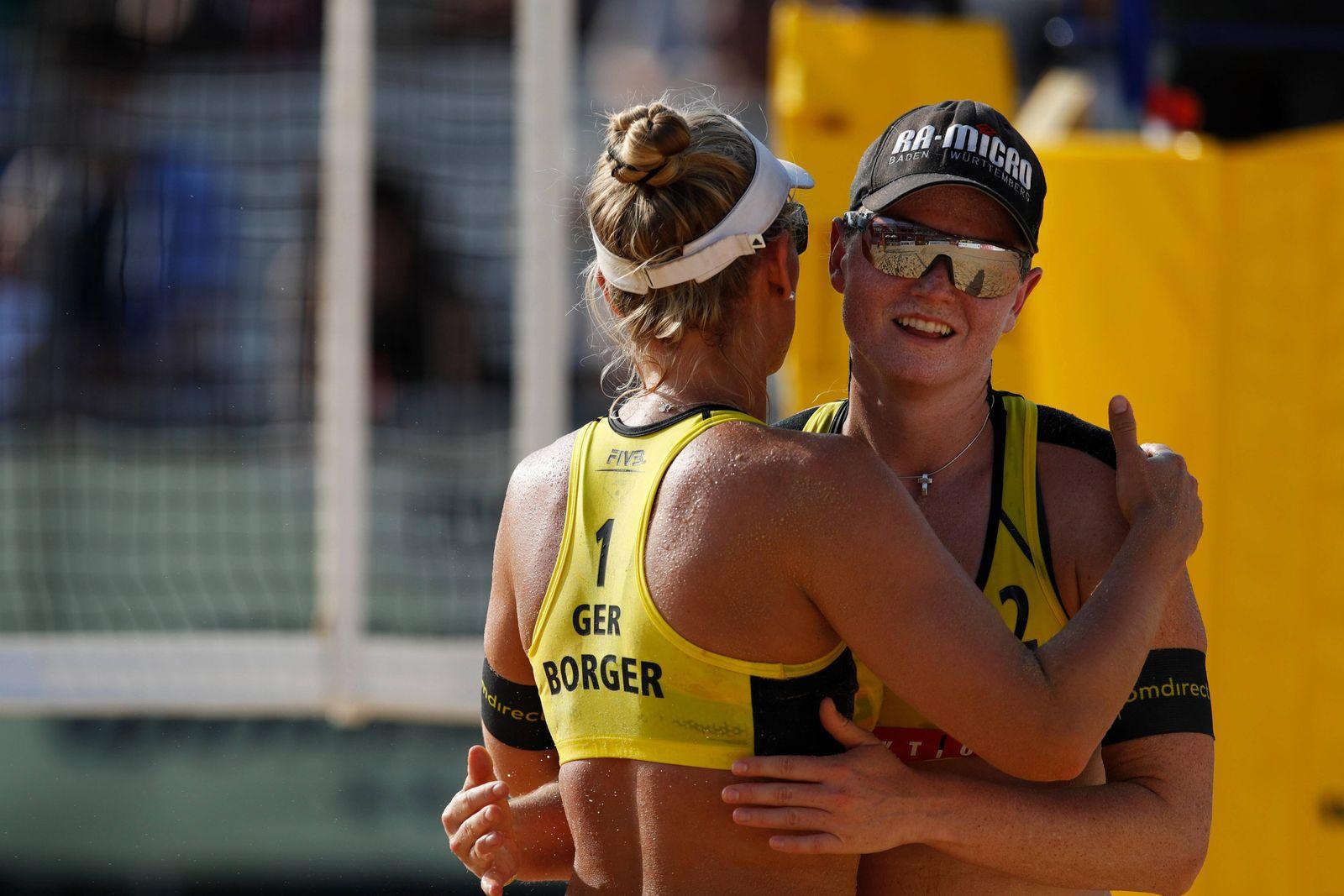Julia Sude & Karla Borger GER JULY 28 2019 Beach volleyball Beachvolleyball FIVB Beach Voll