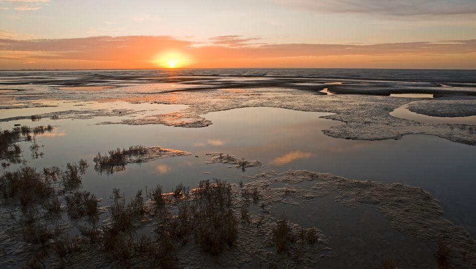 Blick auf die Nordsee an der Küste der Grafschaft Norfolk