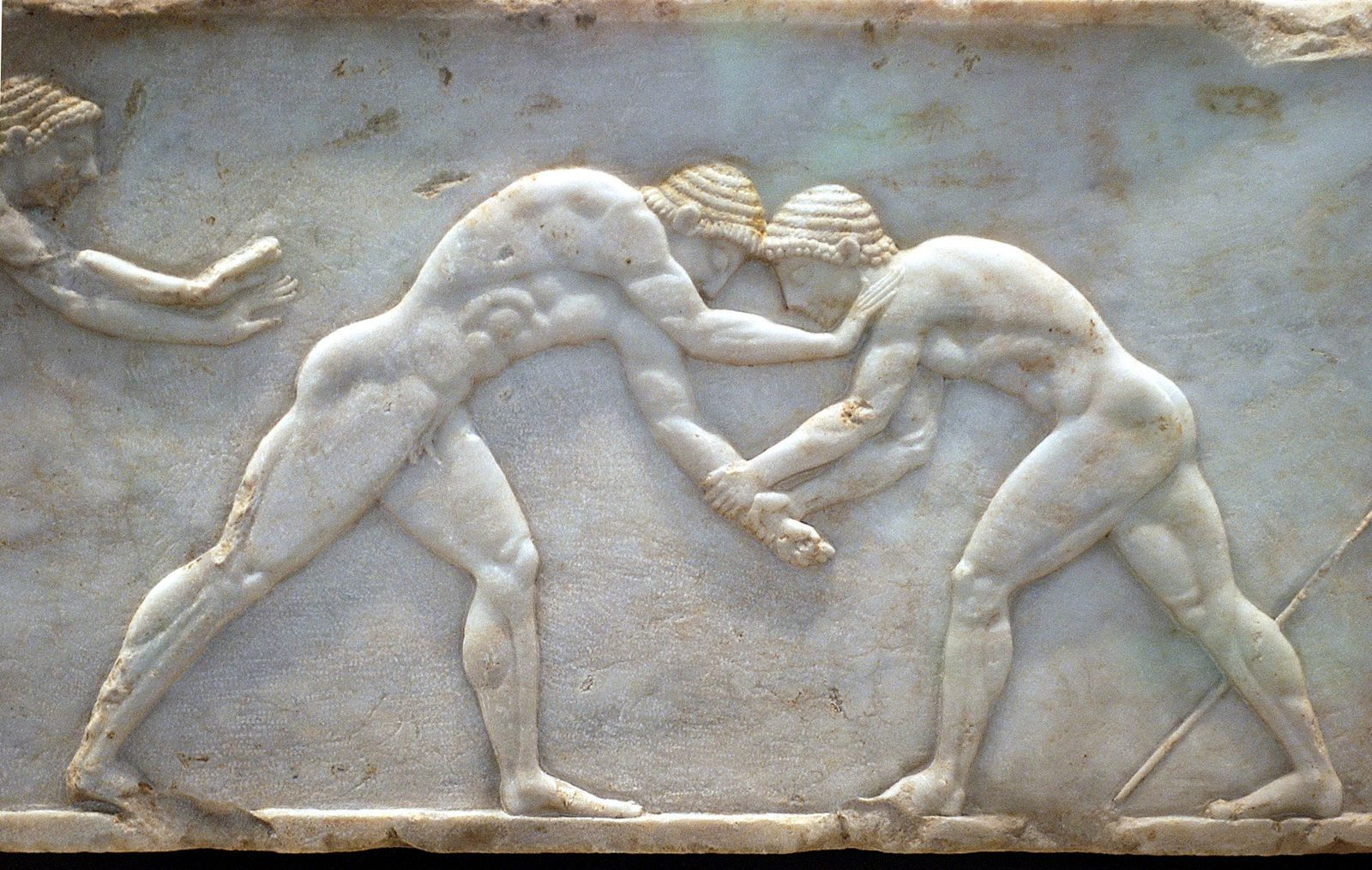 NICHT VERWENDEN Zwei antike griechische Ringkämpfer