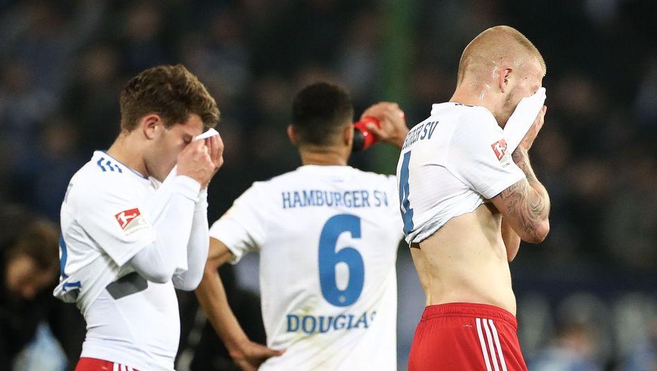 HSV-Spieler nach der Magdeburg-Niederlage und der zweiten Heimpleite in Folge