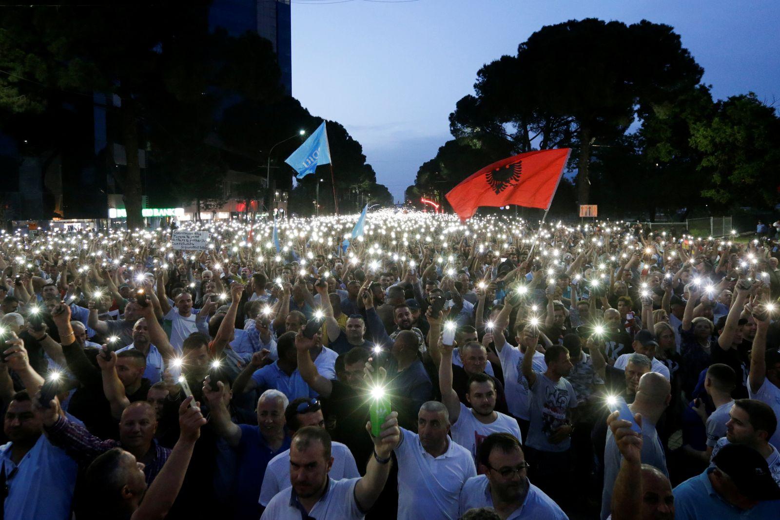 Albanien/ Proteste