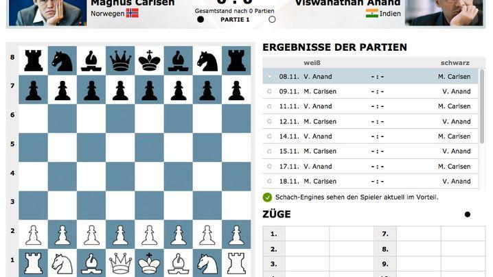 Schach: So erleben Sie die WM bei SPIEGEL ONLINE