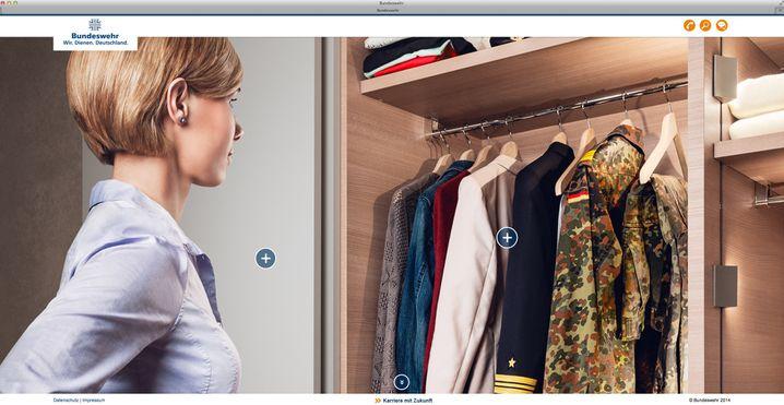 """Kampagnenbild von der Seite """"www.frauen-in-der-bundeswehr.de"""""""