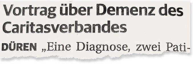 Aus den »Dürener Nachrichten«