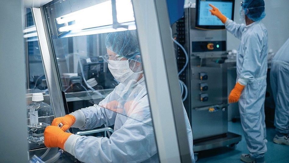 A BioNTech laboratory in Mainz, Germany: The company jumped into the race for a coronavirus vaccine essentially overnight.