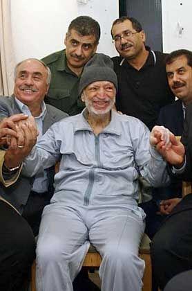 Arafat mit seinen Ärzten