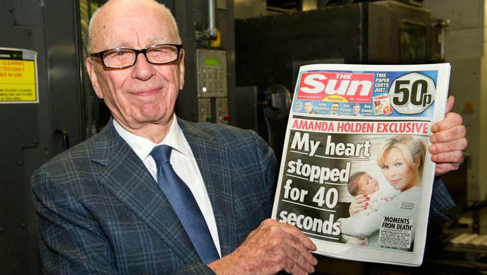 Rupert Murdoch mit seinem Brexit-Kampfblatt »The Sun«