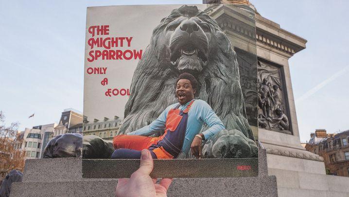 Londoner Reggae-Plattencover: Und hier radelte Peter Tosh!