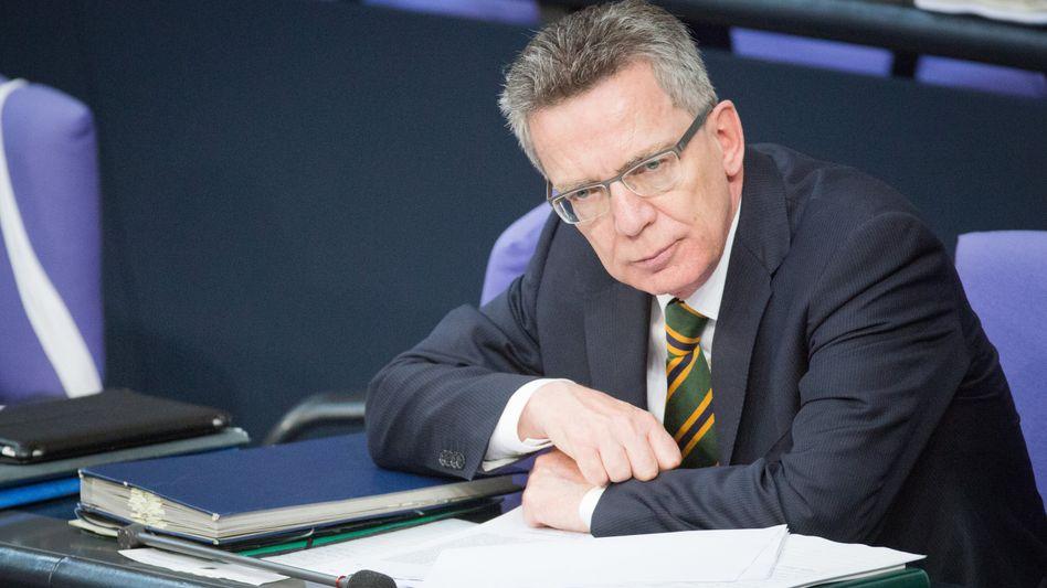 Thomas de Maizière (Archivbild): Schwere Vorwürfe gegen den Minister