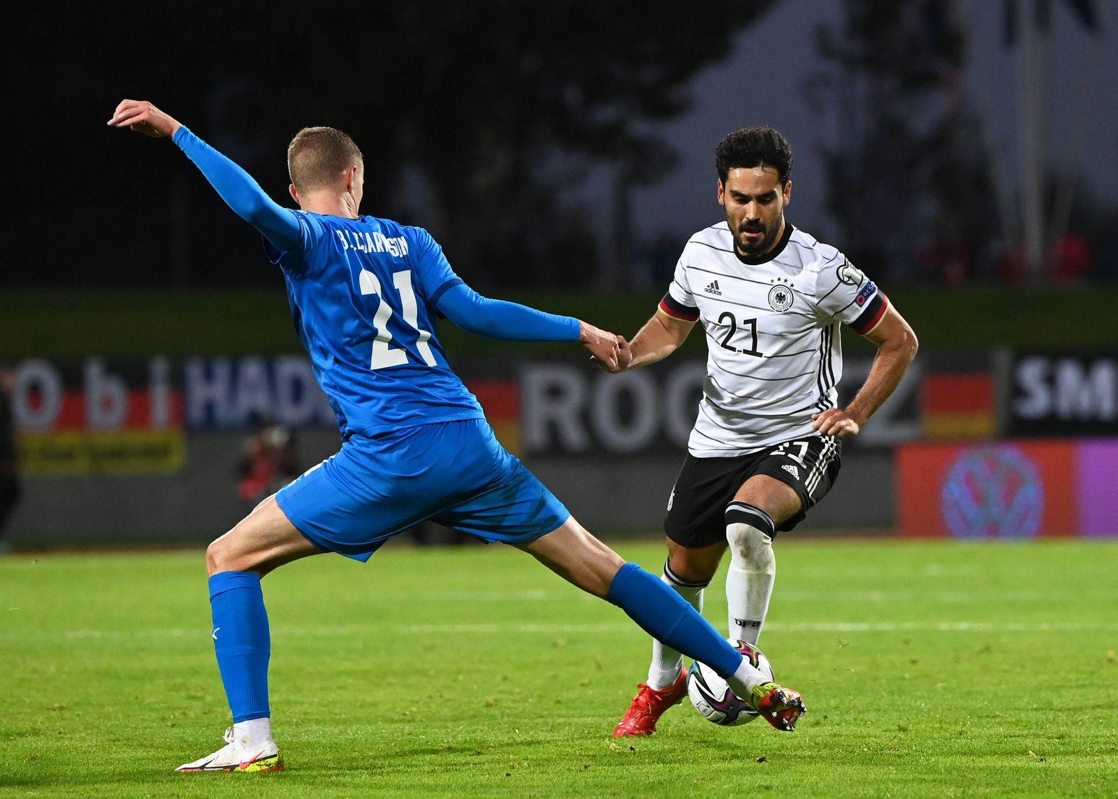 Fussball, Herren, Saison 2020/21, WM-Qualifikation (Gruppe J, 6. Spieltag) in Reykjavik, Island - Deutschland, v. l. Br