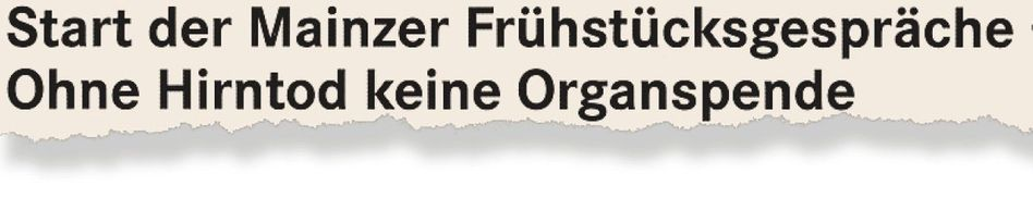 Aus dem Fachblatt »UM.Sicht« der Universitätsmedizin Mainz