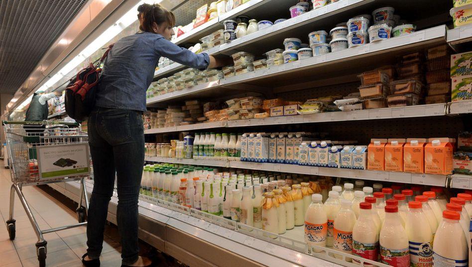 Supermarkt in Moskau: Heikler Boykott westlicher Lebensmittel