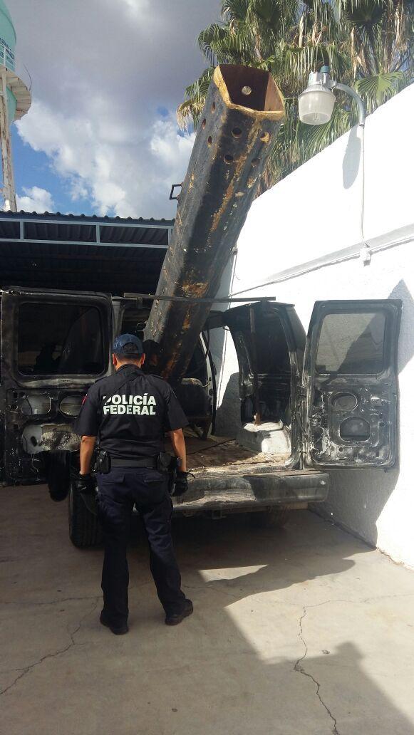 EINMALIGE VERWENDUNG Kanone/ Grenze/ Mexiko