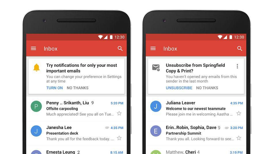 Gmail-Postfach auf einem Smartphone