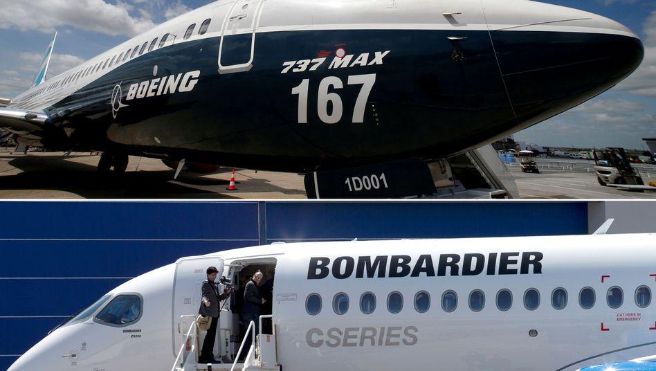 Maschine der Bombardier C-Serie