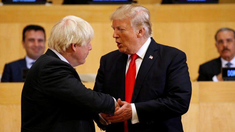 Boris Johnson (l.) und Donald Trump bei einem Treffen in New York