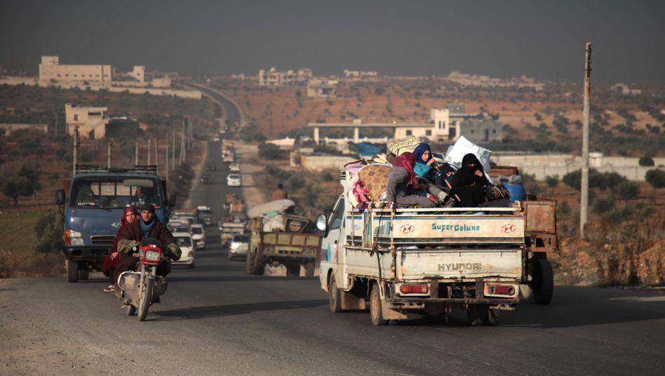 Hauptsache, weg: Syrer verlassen Idlib
