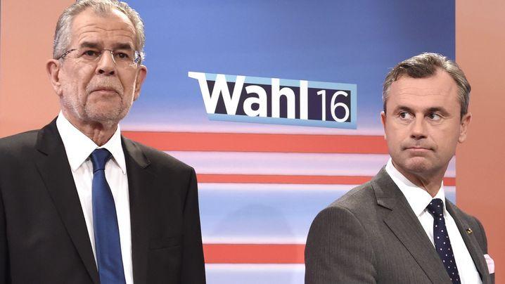 Duell Hofer gegen Van der Bellen: Fifty-Fifty in Österreich