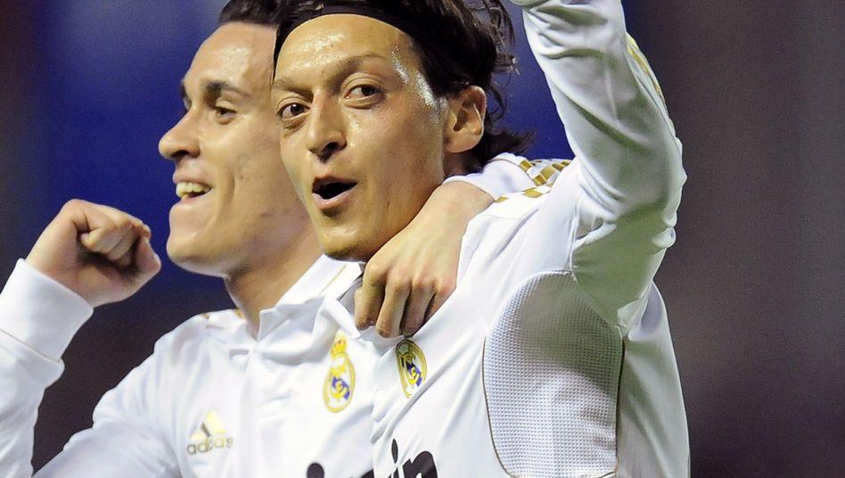 Torschütze Mesut Ozil: Sein erster Meistertitel mit Real Madrid