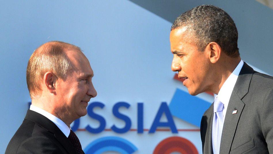 """Präsidenten Putin und Obama (Archivbild): """"Washington hat die Maidan-Proteste aktiv unterstützt"""""""