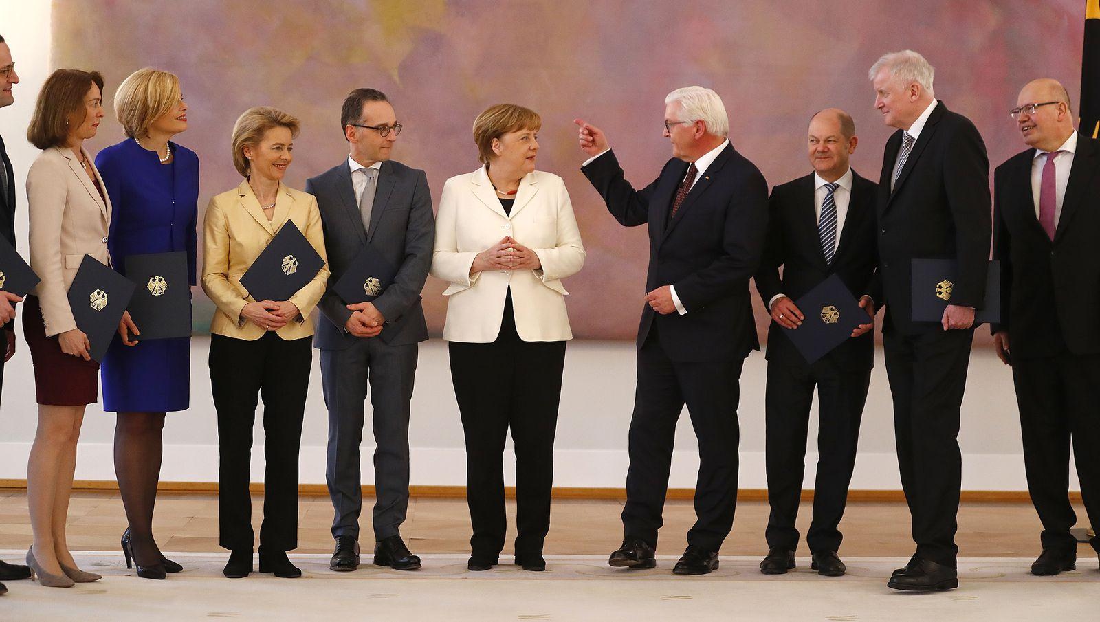 GroKo Merkel Minister