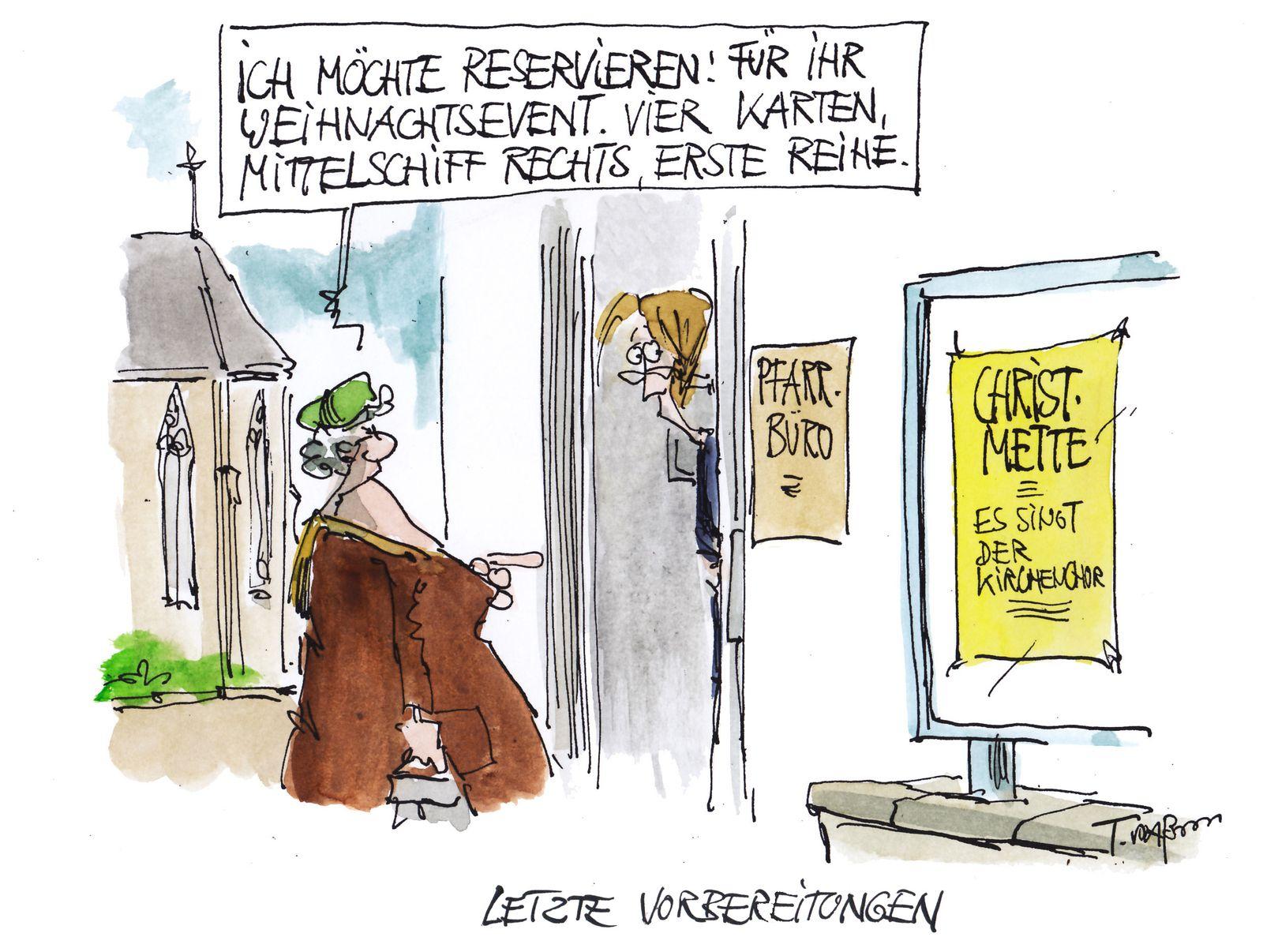EINMALIGE VERWENDUNG Cartoon 24.12.2019 / Plassmann