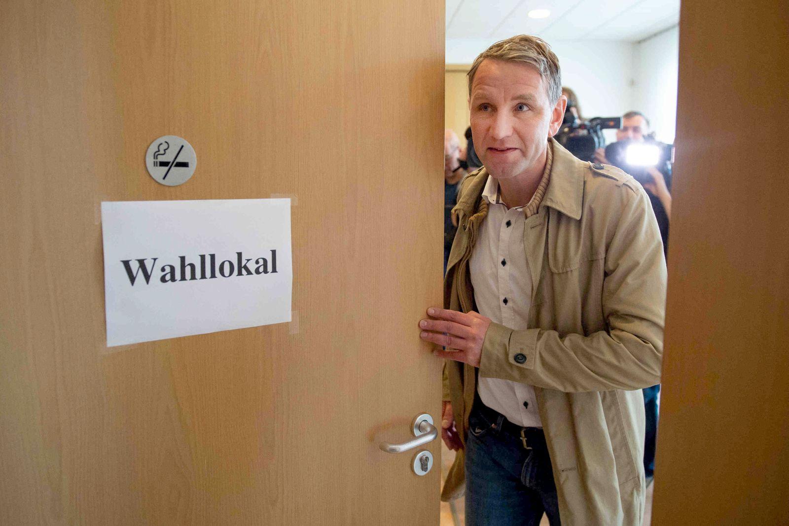 Landtagswahl Thüringen - Stimmabgabe AfD