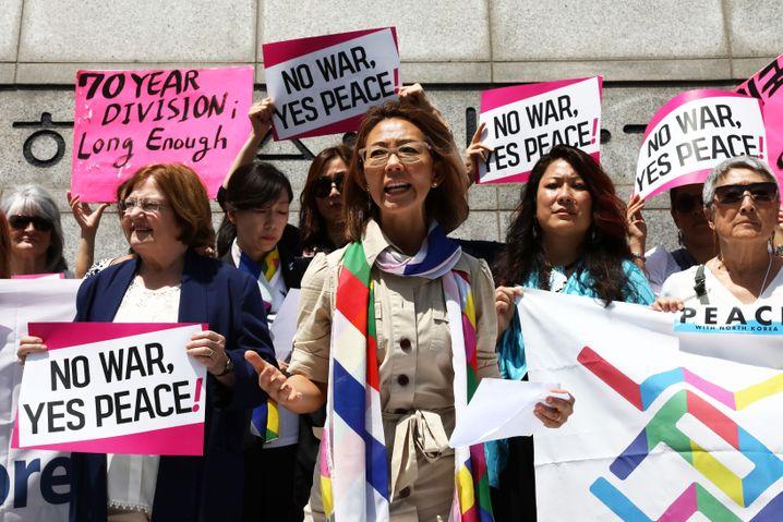 Demonstranten in Seoul