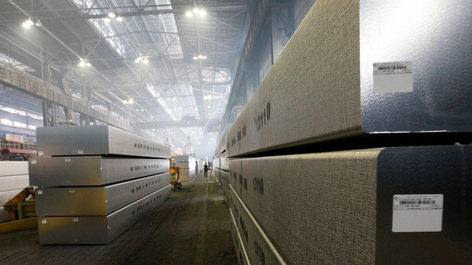Aluminium-Barren (in Russland): Wartezeit verzehnfacht